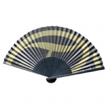 black double-sided paper fan