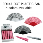Polka dot design plastic fan