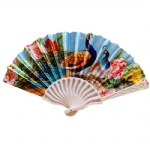 Bird flower design plastic fan