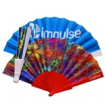 large size printed plastic fan